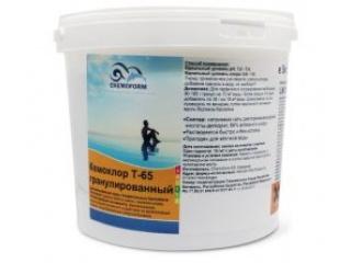 Хлор гранулированный для дезинфекции воды в бассейне Кемохлор Т-65, 50 кг