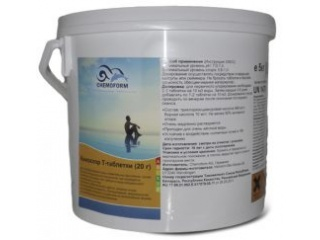 Медленный хлор в таблетках Кемохлор Т (20 г), 5 кг