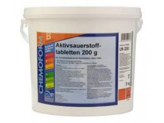 Активный кислород в таблетках по 200 г. 5кг. (Аквабланк О2)
